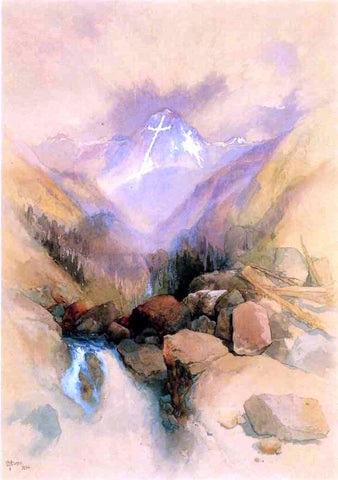 Thomas Moran Mountain of the Holy Cross - Hand Painted Oil Painting