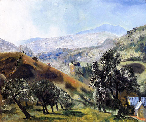 George Wesley Bellows Mountain Orchard - Hand Painted Oil Painting