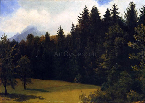 Albert Bierstadt Mountain Resort - Hand Painted Oil Painting