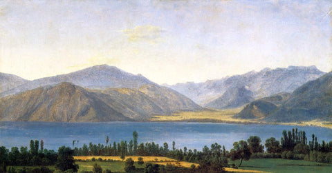 Jean-Joseph-Xavier Bidauld Mountains and a Lake - Hand Painted Oil Painting