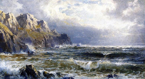 William Trost Richards Moye Point, Guernsey, Channel Islands - Hand Painted Oil Painting
