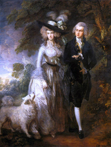 Thomas Gainsborough Mr and Mrs William Hallett ('The Morning Walk') - Hand Painted Oil Painting