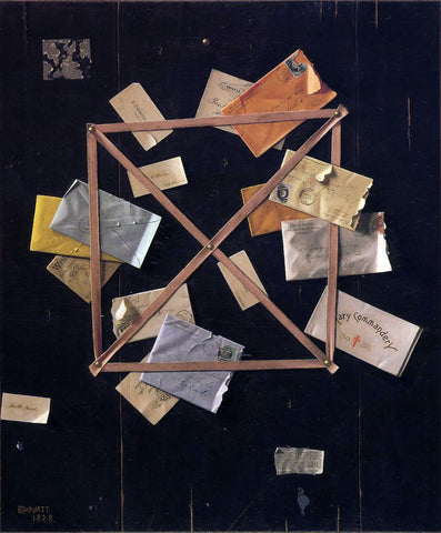 William Michael Harnett Mr. Hulings' Rack Picture - Hand Painted Oil Painting