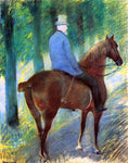 Mary Cassatt Mr. Robert S. Cassatt on Horseback - Hand Painted Oil Painting