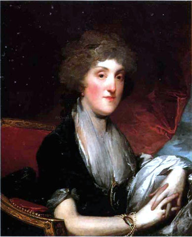 Gilbert Stuart Mrs. Alexander James Dallas, nee Arabella Maria Smith - Hand Painted Oil Painting