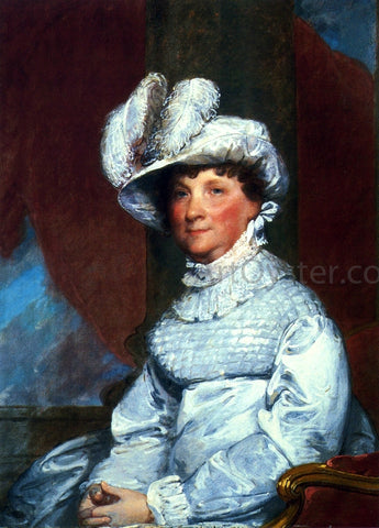 Gilbert Stuart Mrs. Barney Smith - Hand Painted Oil Painting