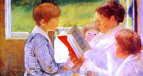 Mary Cassatt Mrs Cassatt Reading to Her Grandchildren - Hand Painted Oil Painting