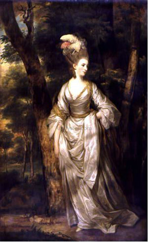 Sir Joshua Reynolds Mrs Elizabeth Carnac - Hand Painted Oil Painting