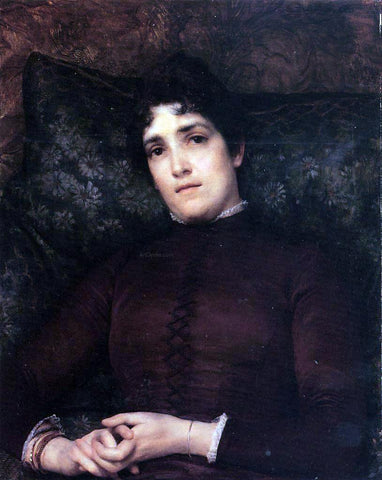 Sir Lawrence Alma-Tadema Mrs. Frank D. Millet - Hand Painted Oil Painting