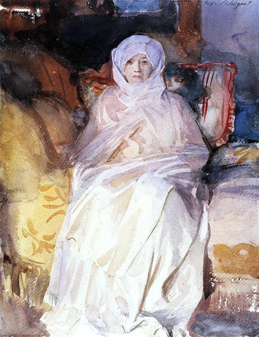 John Singer Sargent Mrs. Gardner in White - Hand Painted Oil Painting