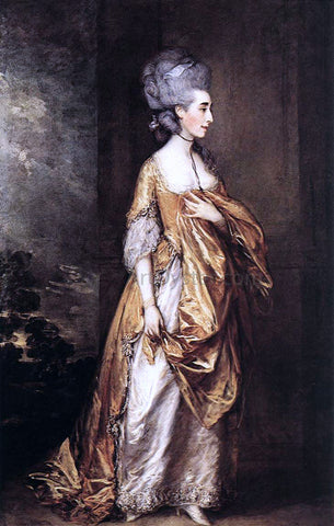 Thomas Gainsborough Mrs Grace Dalrymple Elliot - Hand Painted Oil Painting