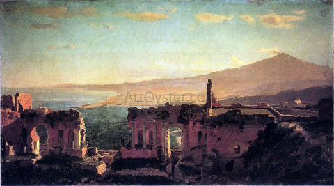 William Stanley Haseltine Mt. Aetna from Taormina - Hand Painted Oil Painting