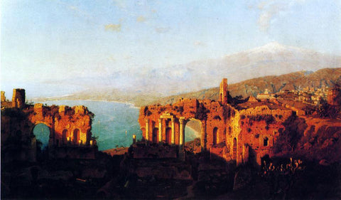 William Stanley Haseltine Mt. Etna from Taormina - Hand Painted Oil Painting