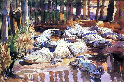 John Singer Sargent Muddy Alligators - Hand Painted Oil Painting