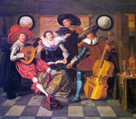 Dirck Hals Musicians - Hand Painted Oil Painting