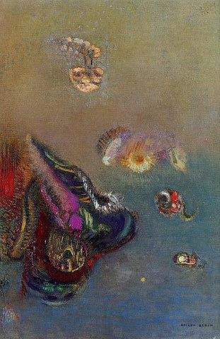 Odilon Redon Mysteries of the Sea - Hand Painted Oil Painting