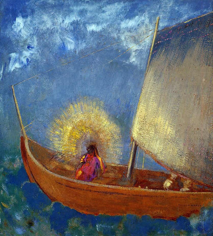 Odilon Redon Mysterious Boat - Hand Painted Oil Painting