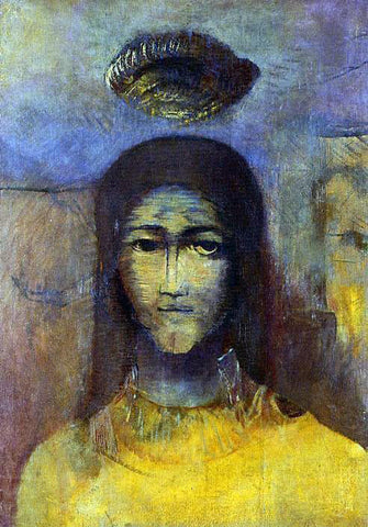 Odilon Redon Mysterious Head - Hand Painted Oil Painting