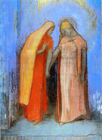 Odilon Redon Mystical Conversation - Hand Painted Oil Painting