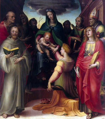 Domenico Beccafumi Mystical Marriage of St Catherine - Hand Painted Oil Painting