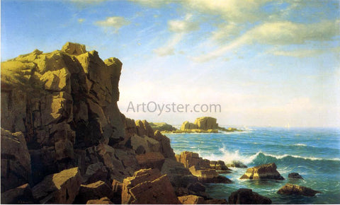 William Stanley Haseltine Nahant Rocks - Hand Painted Oil Painting
