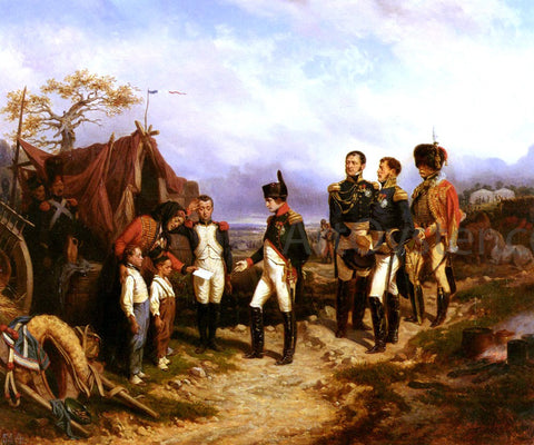Hippolyte Bellange Napoleon Et Le Petit Messager - Hand Painted Oil Painting
