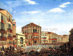 Giuseppe Borsato Napoleon I Presiding over a Regatta in Venice in 1807 - Hand Painted Oil Painting