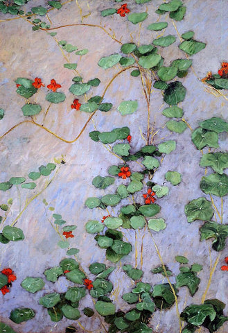 Gustave Caillebotte Nasturtiums - Hand Painted Oil Painting