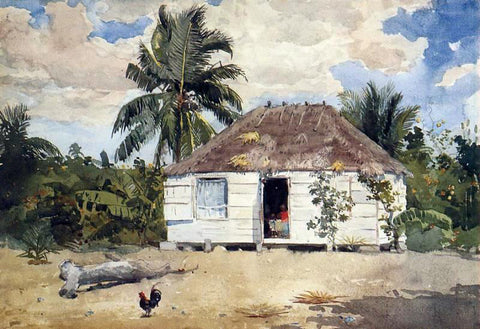 Winslow Homer Native Huts, Nassau - Hand Painted Oil Painting