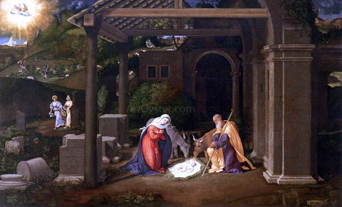 Andrea Previtali Nativity - Hand Painted Oil Painting