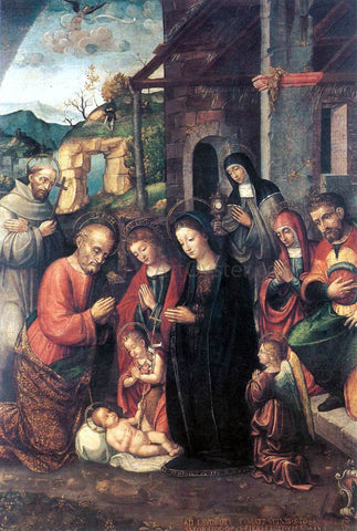 Bernardino Fasolo Nativity - Hand Painted Oil Painting