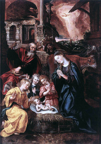 Marten De Vos Nativity - Hand Painted Oil Painting