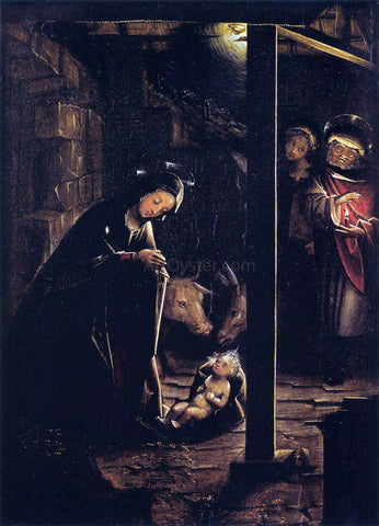 Defendente Ferrari Nativity in Nocturnal Light - Hand Painted Oil Painting