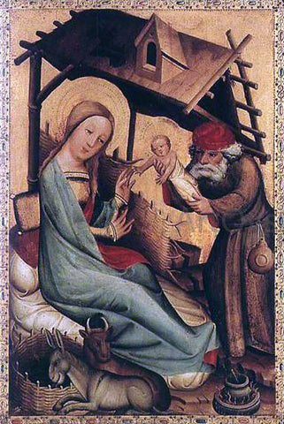 Master Bertram Nativity, panel from Grabow Altarpiece - Hand Painted Oil Painting