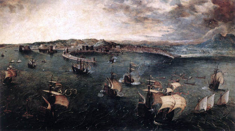 The Elder Pieter Bruegel Naval Battle in the Gulf of Naples - Hand Painted Oil Painting