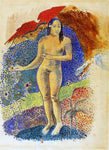 Paul Gauguin Nave nave feuna, L'Eve Tahitienne (also known as Beautiful Land, Tahitian Eve) - Hand Painted Oil Painting