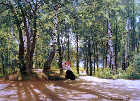 Ivan Ivanovich Shishkin Near dacha - Hand Painted Oil Painting