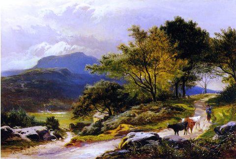 Sidney Richard Percy Near Llyn Crafnant - Hand Painted Oil Painting