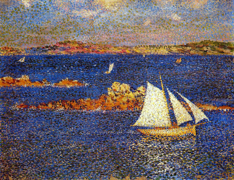 Theo Van Rysselberghe Near the Rocks of Per-Kiridec - Hand Painted Oil Painting