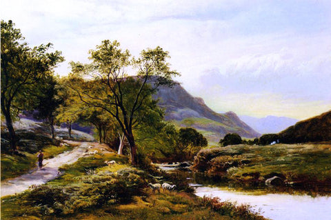 Sidney Richard Percy Near Trefriw, North Wales - Hand Painted Oil Painting