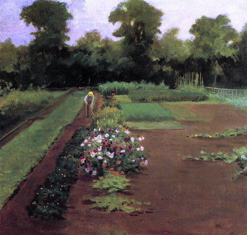 James Carroll Beckwith New Hamburg Garden - Hand Painted Oil Painting