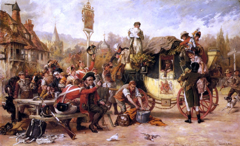 Laslett John Pott News of a Victory - Hand Painted Oil Painting
