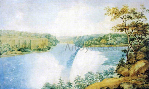Charles Fraser Niagara Falls from Goat Island Looking toward Prospect Point - Hand Painted Oil Painting