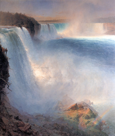 Frederic Edwin Church Niagara Falls from the American Side - Hand Painted Oil Painting