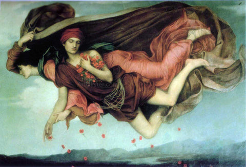 Evelyn De Morgan Night and Sleep - Hand Painted Oil Painting