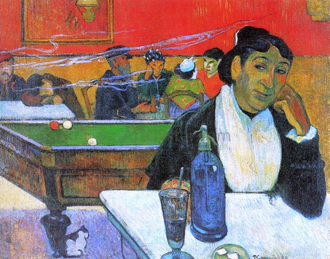 Paul Gauguin A Night Cafe in Arles (Madame Ginoux) - Hand Painted Oil Painting