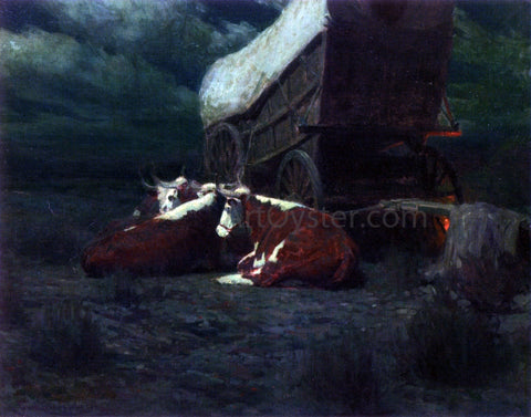Frank Tenney Johnson Night on the Overland Trail - Hand Painted Oil Painting