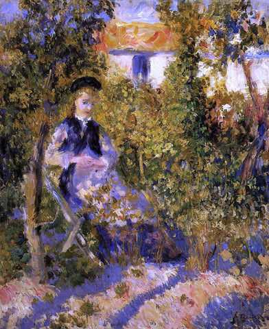 Pierre Auguste Renoir Nini in the Garden - Hand Painted Oil Painting