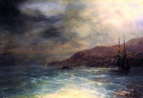 Ivan Constantinovich Aivazovsky Nocturnal voyage - Hand Painted Oil Painting