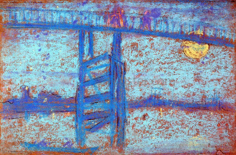 James McNeill Whistler Nocturne: Battersea Bridge - Hand Painted Oil Painting